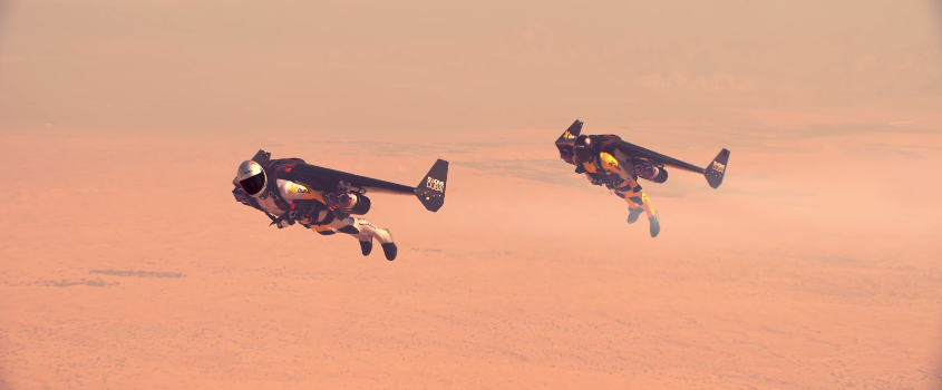 Jetman Flies In Formation With A Stunt Plane, Welcomes The Future - Digg
