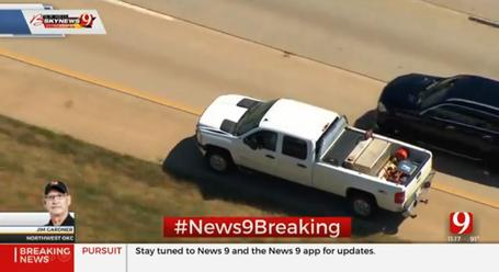 Oklahoma City High Speed Police Chase Is Dramatic All The
