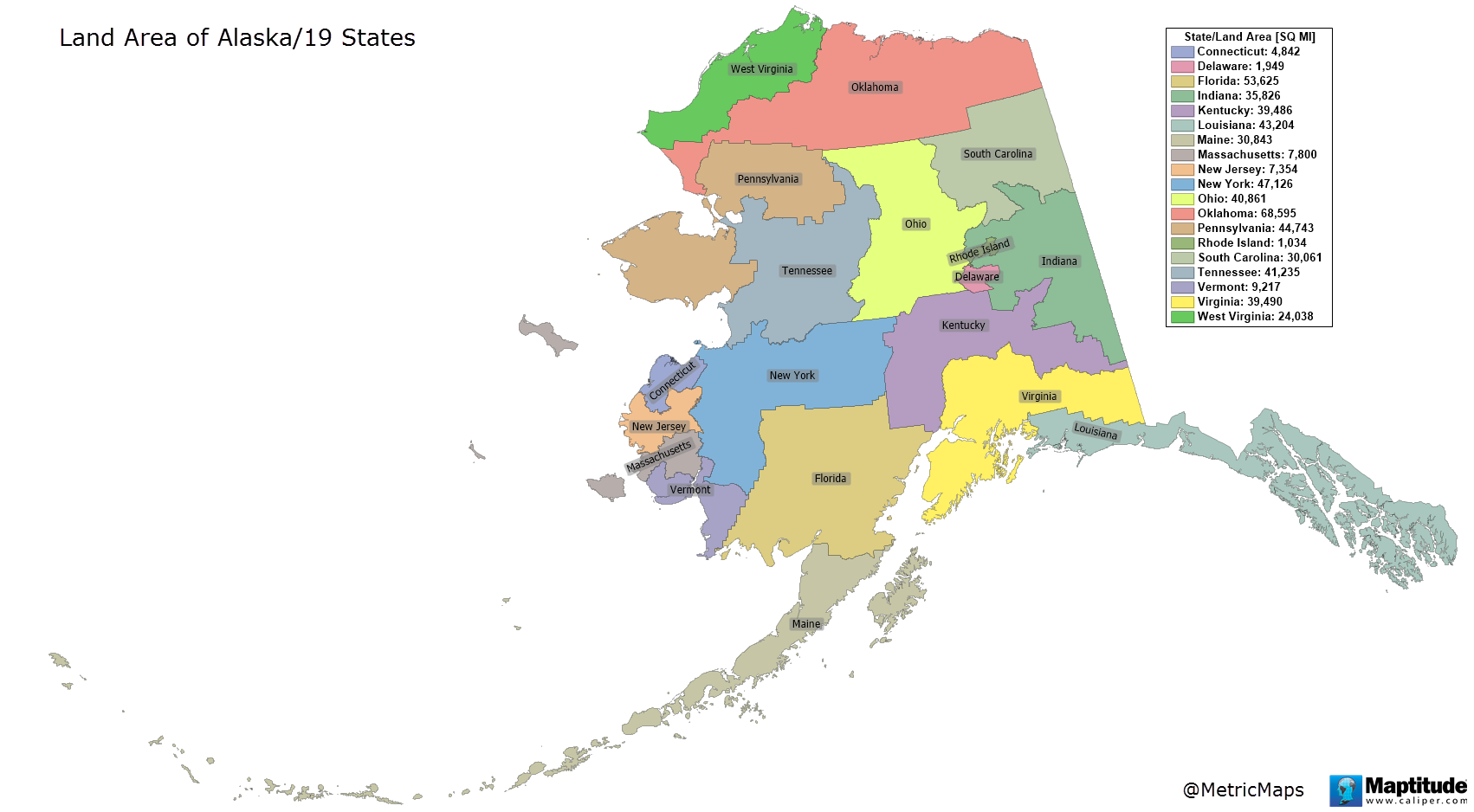 How Big Is Alaska As Big As 19 US States Put Together Digg