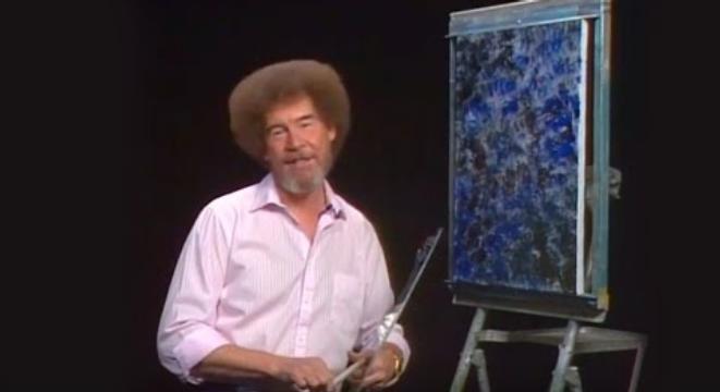 Bob Ross Paints A Big Strong Mountain Digg