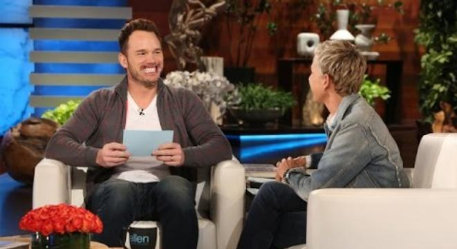 Chris Pratt Trying Hard To Play The 'Speak Out' Game On The Ellen Show Is Ridiculously Hilarious