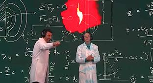 A Science Guy Shows Off Some Explosive Experiments On 'Kimmel'
