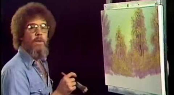 Watch The Very First Episode Of Bob Rosss The Joy Of Painting Digg