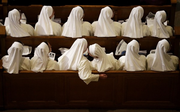 Image: ​Nuns sit in their pews while waiting for Pope Francis to arrive inside the Basilica of the National Shrine of the Immaculate Conception Wednesday, Sept. 23, 2015, in Washington.