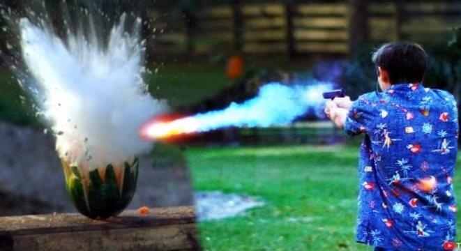 Backyard Scientist backyard scientist sets his swimming pool on fire, puts it out with