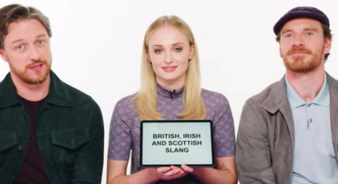 Sophie Turner, James McAvoy And Michael Fassbender Give Lessons On