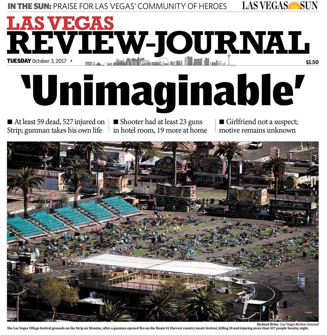 How Major Newspapers Covered The Las Vegas Massacre - Digg