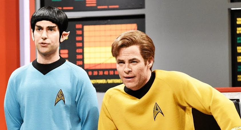 Chris Pine Did His Best Shatner Impression On 'SNL's Classic 'Star Trek' Sketch