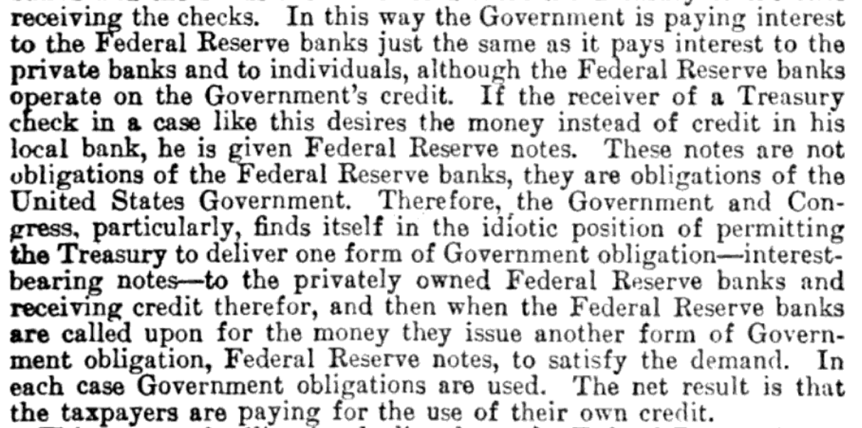 """The statement """"The Federal Reserve system after 50 years"""" by the Committee on Banking and Currency"""