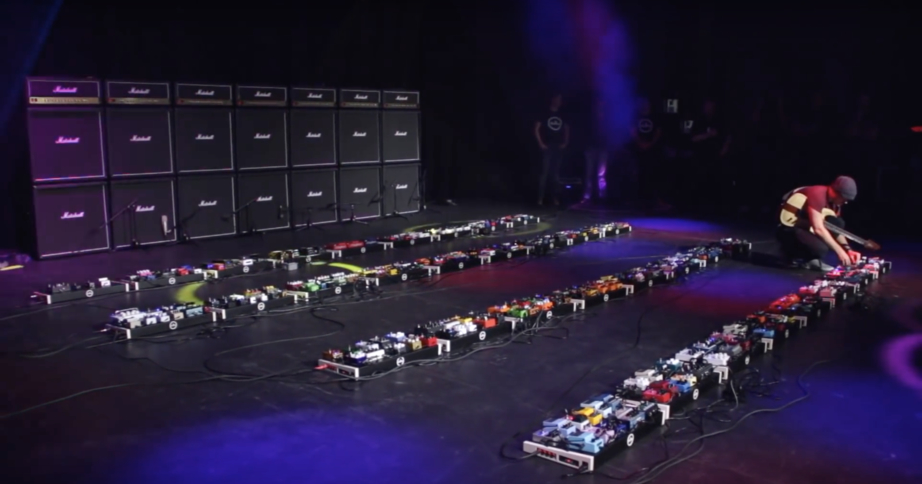 This Is What The World's Largest Guitar Pedal Rig Sounds Like