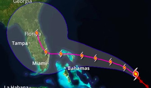 Hurricane Dorian Path Shifts; Forecast To Hit South Florida As A Category 4