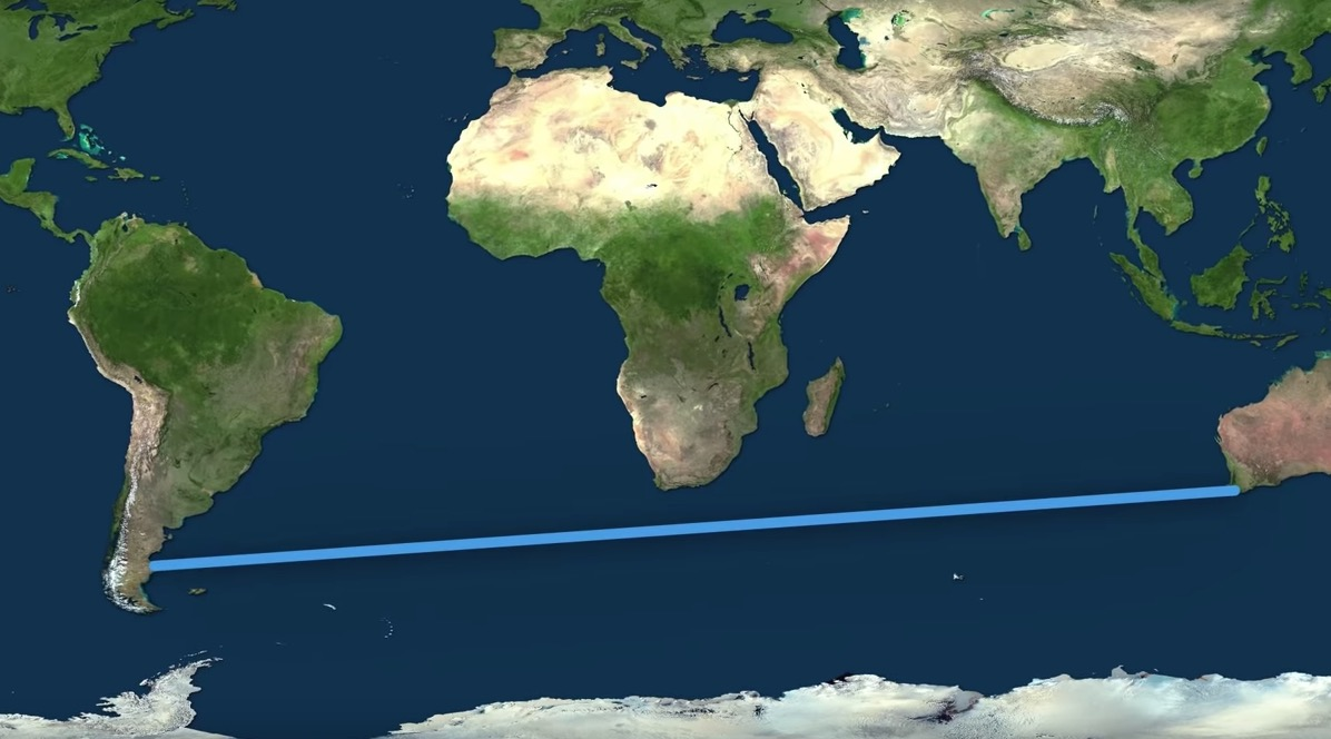 What's The Farthest You Can Travel By Boat In A Straight Line Without Touching Land?