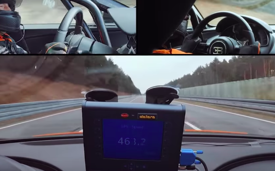 Watch The Bugatti Chiron Smash The Hypercar World Record With 304-MPH Run