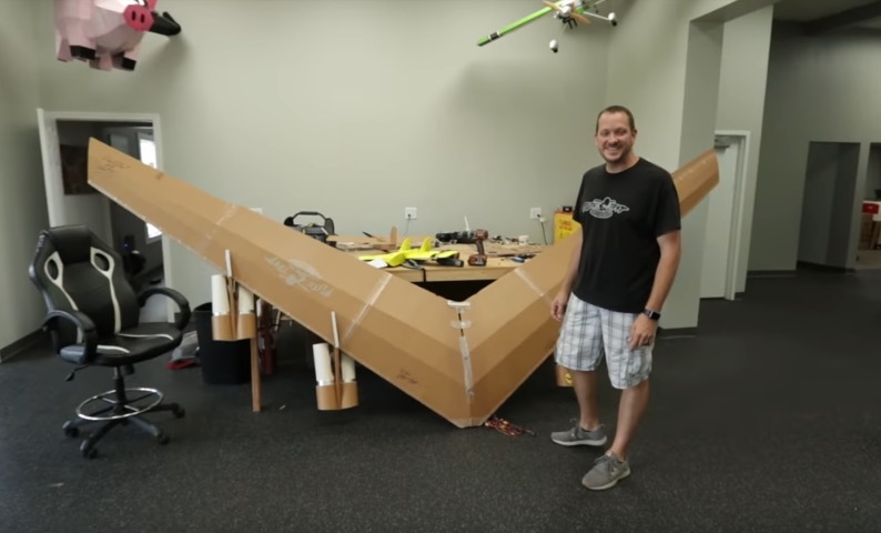 YouTuber Builds A 14-Foot Model B-52 Out Of Foam And Attempts To Fly It