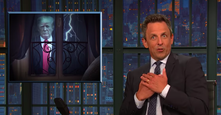 Seth Meyers Looks Into All The Dumb Things Trump Has Said About Hurricane Dorian