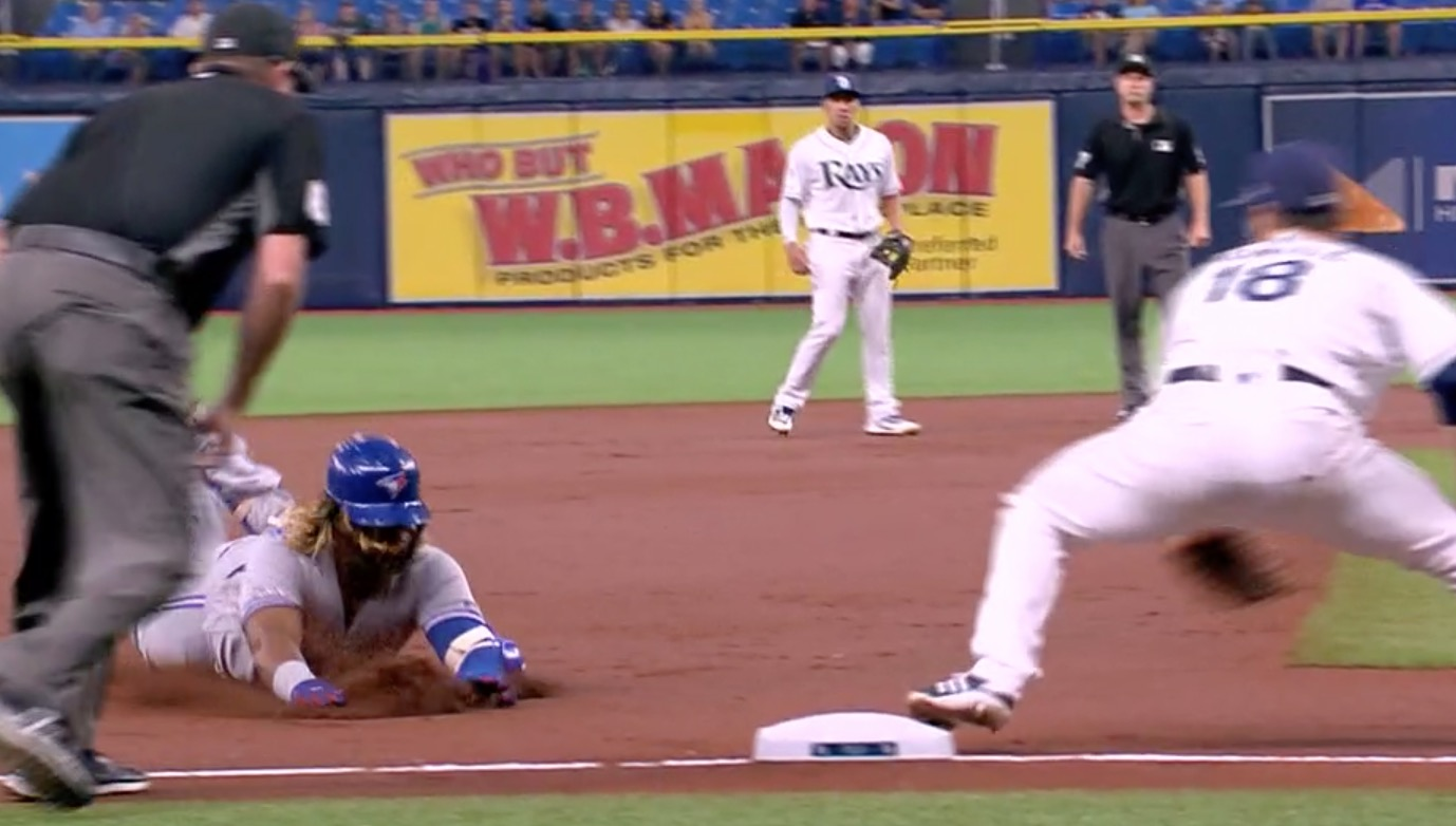 Vladimir Guerrero Jr. Avoids Tag With Matrix-Like Slide Move