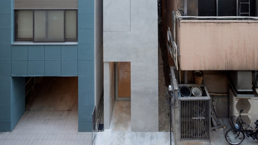 An Office Block Squeezed Into A 2.7-Meter Alley In Tokyo