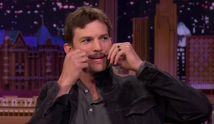 Ashton Kutcher Says Adele Might Be Responsible For His Burt Reynolds Mustache