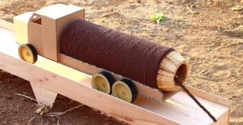 Guy Creates A Rocket Powered Truck With 30,000 Matches