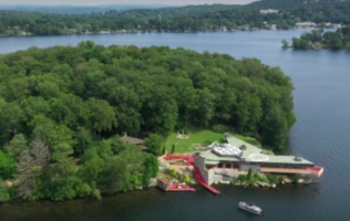 $13 Million Will Get You This Frank Lloyd Wright-Inspired Island Mansion With A Helipad