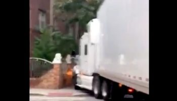 Oversized Semi Tries To Drive Through New York City, Wreaks Havoc