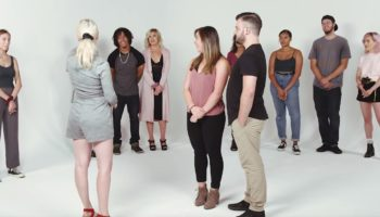 A Dating Coach Looks At A Mixed-Up Line Of Strangers And Pairs Them To Their Significant Others Perfectly