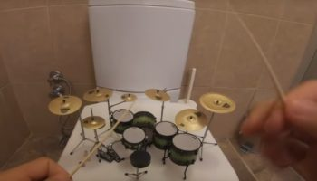 Musician Plays 'System Of A Down' On A Very Tiny Set Of Drums