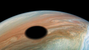 An Unbelievable Image Of A Solar Eclipse On Jupiter