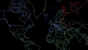 A Haunting Visualization Of What A Nuclear War Between The US And Russia Might Look Like, According To Princeton Researchers