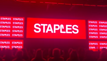 The Unveiling Of Staples' New Logo Was So Over The Top It's Farcical