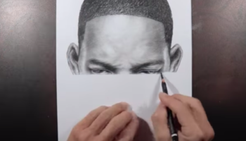 Artist Draws A Mind-Boggling Portrait Of Will Smith In The Manner Of A Printer