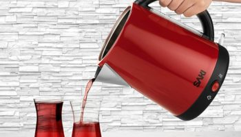 Make Tea Anywhere There's A Plug (And Tea Leaves And Water) With This Double Decker Kettle