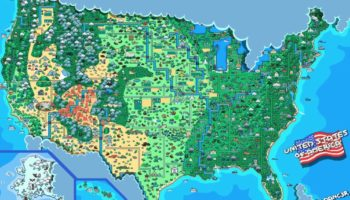 An Adorably Animated Pixel Art Map Of The United States