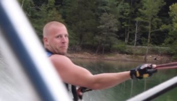 Waterskier Nearly Has Deadly Accident, Has The Chillest Possible Reaction