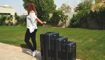 This Innovative Luggage Set Connects Together For Easy Transport