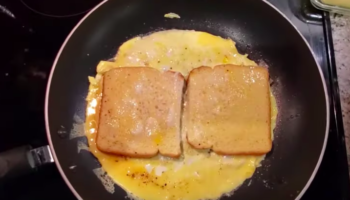 Man Demonstrates How To Make A Simple Breakfast Sandwich Under A Minute