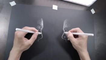 Extraordinarily Talented Artist Records Himself Sketching Two Drawings At The Same Time