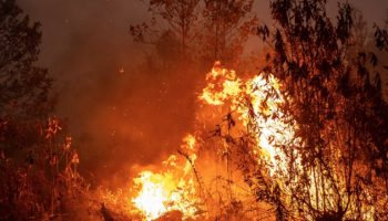 Fires Rage In Indonesia, Turning The Sky Red