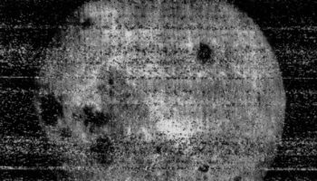 The First Photograph Of The Dark Side Of The Moon From 1959