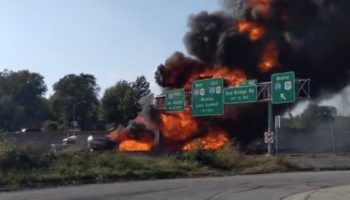 Eyewitness Watches In Horror As Fuel Tanker Fire Goes From Bad To Worse