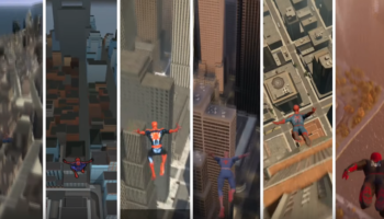 Side-By-Side Skydives Off The Tallest Building In Every 'Spider-Man' Video Game