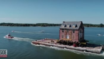 Watch The Incredible Way A Man Moved This Historic House By Boat