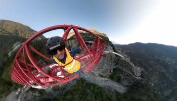 Thrill Seeker BASE Jumps Off A Gosh Dang Crane