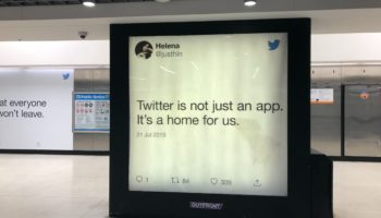 What Happens When Your Tweet Becomes An Ad In The Subway