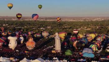 A Drone Captures Gorgeous Footage Of Albuquerque's Hot Air Balloon Festival