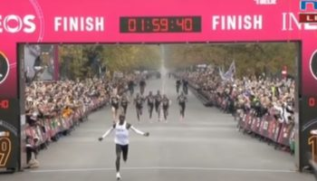 Here's The Amazing Moment When Eliud Kipchoge Became The First Person To Run A Marathon Under Two Hours