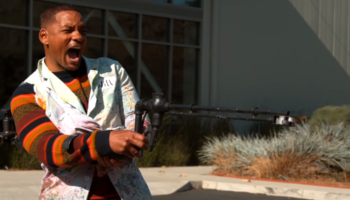 The Only Thing Better Than Will Smith Is Watching Will Smith Wield A Flame Thrower In Slow Mo