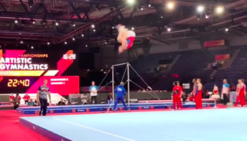 Russian Gymnast Stomps A Triple Backflip Like It's Nothing