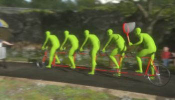 Five Green Men Ride A Bicycle