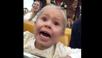 3 -Year-Old Goes Through Every Possible Emotion On Her First Theme Park Ride